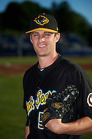 West Virginia Black Bears relief pitcher Matt Frawley (54) poses for a photo before a game against the Batavia Muckdogs on June 30, 2016 at Dwyer Stadium in Batavia, New York.  Batavia defeated West Virginia 4-3.  (Mike Janes/Four Seam Images)