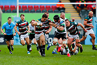 28th March 2021; Mattoli Woods Welford Road Stadium, Leicester, Midlands, England; Premiership Rugby, Leicester Tigers versus Newcastle Falcons; Matias Moroni of Leicester Tigers makes a break