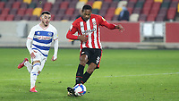 Ethan Pinnock of Brentford in action during Brentford vs Queens Park Rangers, Sky Bet EFL Championship Football at the Brentford Community Stadium on 27th November 2020
