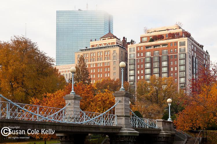 Fall foliage in the Boston Public Garden, Boston, MA, USA