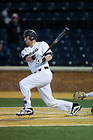 at David F. Couch Ballpark on March 9, 2018 in  Winston-Salem, North Carolina.  The Seminoles defeated the Demon Deacons 7-3.  (Brian Westerholt/Four Seam Images)