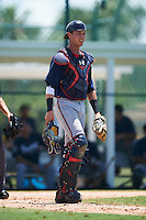 GCL Braves catcher Collin Yelich (30) during a game against the GCL Pirates on August 10, 2016 at Pirate City in Bradenton, Florida.  GCL Braves defeated the GCL Pirates 5-1.  (Mike Janes/Four Seam Images)