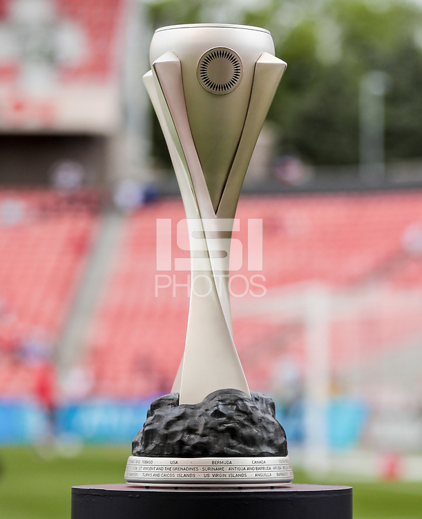 SANDY, UT - JUNE 10: Trophy before a game between Costa Rica and USMNT at Rio Tinto Stadium on June 10, 2021 in Sandy, Utah.