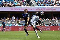 SAN JOSE, CA - JUNE 8: Florian Jungwirth #23, Francis Atuahene #17 during a game between FC Dallas and San Jose Earthquakes at Avaya Stadium on June 8, 2019 in San Jose, California.