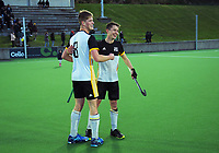Action from the 2021 Wellington premier one men's hockey final between Harbour City and Hutt United at National Hockey Stadium in Wellington, New Zealand on Saturday, 14 August 2021. Photo: Dave Lintott / lintottphoto.co.nz
