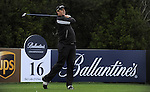 JEJU, SOUTH KOREA - APRIL 22:  Marcus Fraser of Australia tees off on the 16th hole during the Round One of the Ballantine's Championship at Pinx Golf Club on April 22, 2010 in Jeju island, South Korea. Photo by Victor Fraile / The Power of Sport Images