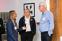 SAN FRANCISCO, CA - October 16 - Erika Reineke, Anna Weiss and Doug Smith attend Kilroy Realty / US Olympic Sailing Cocktail Reception 2019 on October 16th 2019 at Kilroy Innovation Center in San Francisco, CA (Photo - Andrew Caulfield for Drew Altizer Photography)