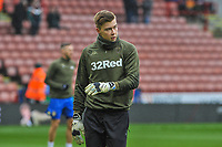 Leeds United's goalkeeper Bailey Peacock-Farrell (1) during the Sky Bet Championship match between Sheff United and Leeds United at Bramall Lane, Sheffield, England on 1 December 2018. Photo by Stephen Buckley / PRiME Media Images.