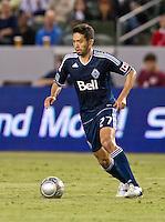 CARSON, CA - June 23, 2012: Vancouver Whitecaps midfielder Jun Marques Davidson (27) during the LA Galaxy vs Vancouver Whitecaps FC match at the Home Depot Center in Carson, California. Final score LA Galaxy 3, Vancouver Whitecaps FC 0.