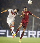 Spain's Sergio Busquets (r) and Germany's Volland during international friendly match.November 18,2014. (ALTERPHOTOS/Acero)