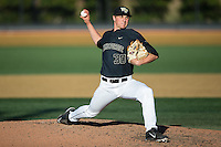Wake Forest Demon Deacons relief pitcher Rayne Supple (30) in action against the Florida State Seminoles at David F. Couch Ballpark on April 16, 2016 in Winston-Salem, North Carolina.  The Seminoles defeated the Demon Deacons 13-8.  (Brian Westerholt/Four Seam Images)