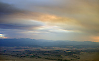 Wildfire smoke in sky, near Walsenburg, Colorado. July 2013.  89255