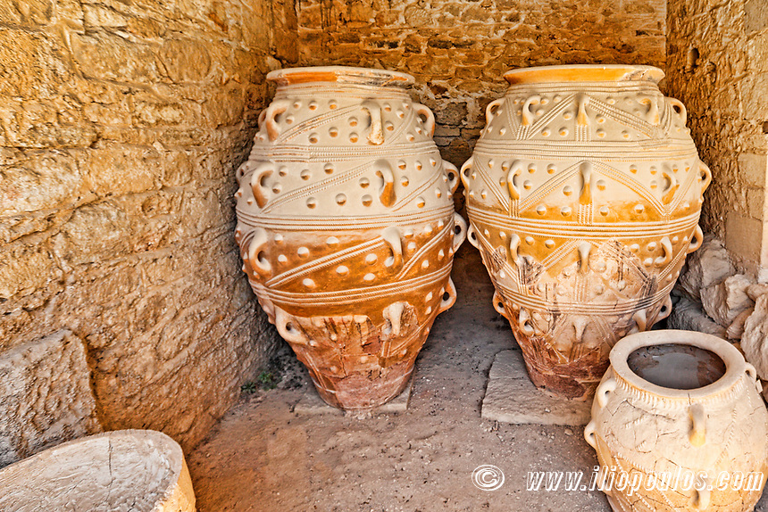 The Magazines of the Giant Pithoi of the Palace in Knossos at Crete, Greece