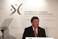 November 8, 2013 - James Cherry speak of CENTRAIDE  before the Board of Trade of Metropolitan Montreal.