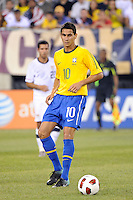 Paulo Henrique Ganso (10). The men's national team of Brazil (BRA) defeated the United States (USA) 2-0 during an international friendly at the New Meadowlands Stadium in East Rutherford, NJ, on August 10, 2010.