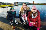 Mary, Keelan and Freya Dennehy and Hunter the dog enjoying a stroll around the Tralee Wetlands on Sunday.