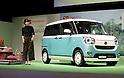 Mitsuki Takahata promotes new Daihatsu compact wagon
