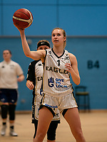 Yemisi Mefful of Newcastle Eagles during the WBBL Championship match between Sevenoaks Suns and Newcastle Eagles at Surrey Sports Park, Guildford, England on 20 March 2021. Photo by Liam McAvoy