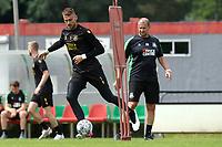 GRONINGEN - Voetbal, Eerste training selectie FC Groningen, seizoen 2021-2022, 26-06-2021, FC Groningen doelman Peter Leeuwenburgh en Arno Arts