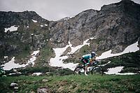 Nikita Stalnov (KAZ/Astana)<br /> <br /> Stage 7: Moûtiers > Saint-Gervais Mont Blanc (129km)<br /> 70th Critérium du Dauphiné 2018 (2.UWT)