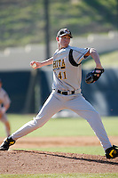 Aaron Shafer of the Wichita State Shockers during a game against the Pepperdine Waves at Eddy D. Field Stadium on February 16, 2007 in Malibu, California. (Larry Goren/Four Seam Images)