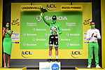 Peter Sagan (SVK) Bora-Hansgrohe retains the Green Jersey at the end of Stage 8 of Tour de France 2020, running 141km from Cazeres-sur-Garonne to Loudenvielle, France. 5th September 2020. <br /> Picture: ASO/Pauline Ballet | Cyclefile<br /> All photos usage must carry mandatory copyright credit (© Cyclefile | ASO/Pauline Ballet)