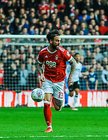 Nottingham Forest's defender Danny Fox (13) during the Sky Bet Championship match between Nottingham Forest and Derby County at the City Ground, Nottingham, England on 10 March 2018. Photo by Stephen Buckley / PRiME Media Images.