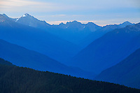 Elwha River Valley viewed from Hurricane Ridge, Olympic National Park