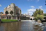 Great Britain, Bath and NE Somerset, Bath: The Empire Hotel on the River Avon