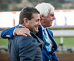 ARCADIA, CA - NOVEMBER 05: Arrogate trainer Bob Baffert (R) and assistant trainer Jimmy Barnes celebrate after they won the Breeders' Cup Classic during day two of the 2016 Breeders' Cup World Championships at Santa Anita Park on November 5, 2016 in Arcadia, California. (Photo by Alex Evers/Eclipse Sportswire/Breeders Cup)