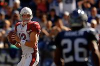 Sep 25, 2005; Seattle, WA, USA; Arizona Cardinals quarterback #12 Josh McCown drops back to pass the ball in the second quarter at Qwest Field. Mandatory Credit: Photo By Mark J. Rebilas