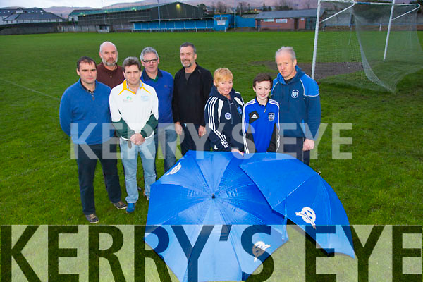 Catriona O'Sullivan, Stephen Nix, Frank O'Connor Chairman, John Nix, Frank O'Connor, Marcus Howlett, Mike Griffin, Peter Nolan, Launch the 10K Run starting at Kerins O'Rahilly's Club on the 1st February 2015. Fundraising run for Kerins O'Rahilly