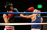 Utah boxer Wai Ming and Ryan Webber, of UCLA, compete in the National Collegiate Boxing Association action in Reno, Nev. on Friday, Jan. 31, 2020. Ming won the bout. <br /> Photo by Cathleen Allison