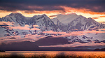 Glacier Bay National Park, Alaska, USA<br /> <br /> Afternoon light illuminates mist and clouds clinging to the jagged Fairweather Range, which are formed by the subduction of tectonic plates. In spite of the name, these mountains experience harsh weather conditions.