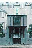 Josef Hoffmann: Palais Stoclet, Brussels. Street entrance. Photo '87.