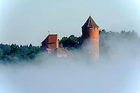 Blick auf Bischofsburg Turaida, Lettland, Europa