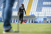 20190304 - LARNACA , CYPRUS : 4th Official Xenia pictured during a women's soccer game between Czech Republic and South Africa , on Monday 4 March 2019 at the Antonis Papadopoulos Stadium in Larnaca , Cyprus . This is the third game in group A for Both teams during the Cyprus Womens Cup 2019 , a prestigious women soccer tournament as a preparation on the Uefa Women's Euro 2021 qualification duels. PHOTO SPORTPIX.BE | STIJN AUDOOREN