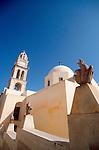 Greece, Santorini, Thira, Greek Isles, Mediterranean Sea, Europe, village architecture,.