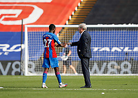 12th September 2020; Selhurst Park, London, England; English Premier League Football, Crystal Palace versus Southampton; Crystal Palace Manager Roy Hodgson fist bumps Tyrick Mitchell of Crystal Palace