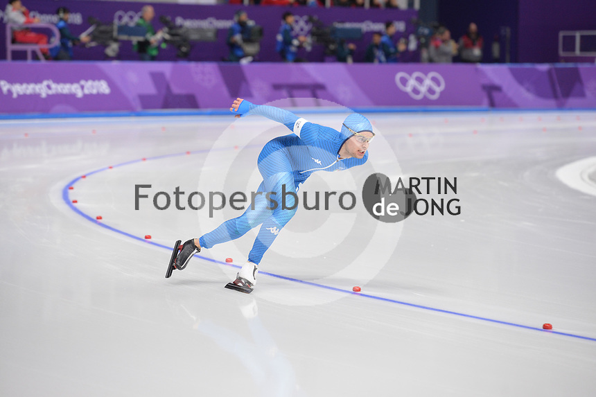 OLYMPIC GAMES: PYEONGCHANG: 15-02-2018, Gangneung Oval, Long Track, 10.000m Men, Nicola Tumolero (ITA), ©photo Martin de Jong