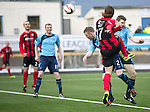 Forfar Athletic v St Johnstone....08.02.14   Scottish Cup 5th Round<br /> Stevie May lobs the ball into the net to make it 1-0<br /> Picture by Graeme Hart.<br /> Copyright Perthshire Picture Agency<br /> Tel: 01738 623350  Mobile: 07990 594431