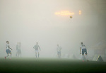 St Johnstone v Kilmarnock…06.11.20   McDiarmid Park SPFL<br />Very foggy con ditions at McDiarmid Park<br />Picture by Graeme Hart.<br />Copyright Perthshire Picture Agency<br />Tel: 01738 623350  Mobile: 07990 594431