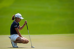 CHON BURI, THAILAND - FEBRUARY 20:  In Kyung Kim of South Korea lines up a putt on the 4th hole during day four of the LPGA Thailand at Siam Country Club on February 20, 2011 in Chon Buri, Thailand. Photo by Victor Fraile / The Power of Sport Images