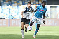 Marco Pasalic of Atalanta BC and Tiemoue Bakayoko of SSC Napoli compete for the ball<br /> during the Serie A football match between SSC Napoli and Atalanta BC at stadio San Paolo in Napoli (Italy), October 17th, 2020. <br /> Photo Cesare Purini / Insidefoto