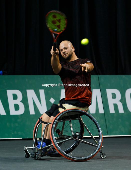 Rotterdam, The Netherlands, 9 Februari 2020, ABNAMRO World Tennis Tournament, Ahoy, Wheelchair: Jef Vandrope (BEL), Stephane Houdet (FRA) / Gordon Reid (GBR), Stefan Olsson (SWE).<br /> Photo: www.tennisimages.com