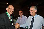 ENRICO LETTA CON NICOLA LATORRE E LUIGI ZANDA<br /> ASSEMBLEA PARTITO DEMOCRATICO - HOTEL MARRIOT ROMA 2009