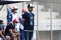 PIEDECUSTA - COLOMBIA, 03-04-2021: Real San Andres y Fortaleza CEIF durante partido de la fecha 14 por el Torneo BetPlay DIMAYOR 2021 en el estadio Villa Concha de la ciudad de Piedecusta. / Real San Andres and Fortaleza CEIF during a match of the 14th for the BetPlay DIMAYOR 2021 Tournament at the Villa Concha stadium in Piedecusta city. Photo: VizzorImage / Jaime Moreno / Cont.