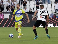 22nd September 2021; Picco Stadium, La Spezia, Italy; Serie A football, Spezia FC versus Juventus  FC: Leonardo Bonucci of Juventus
