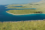 Côtes découpées  de l'île de Kornat  Parc national des Kornati. .Coasts of  Kornat island. Kornati national park
