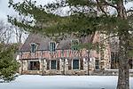 Gatehouser near Jordan Pond in Acadia National Park, Maine, USA